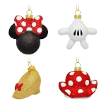 Disney Ornament Set - Minnie Mouse Icon Glass Ornament Set