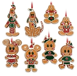 Disney Ornament Set - Mickey Mouse and Friends Gingerbread Men Cookie