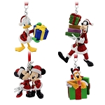 Disney Ornament Set - Santa Mickey Mouse and Friends Figural Ornament Set