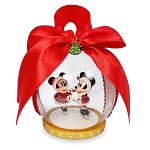 Disney Christmas Ornament - Dome - Santa Mickey and Minnie Mouse