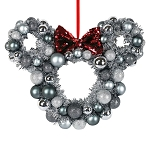 Disney Holiday Wreath - Minnie Mouse Icon - Silver
