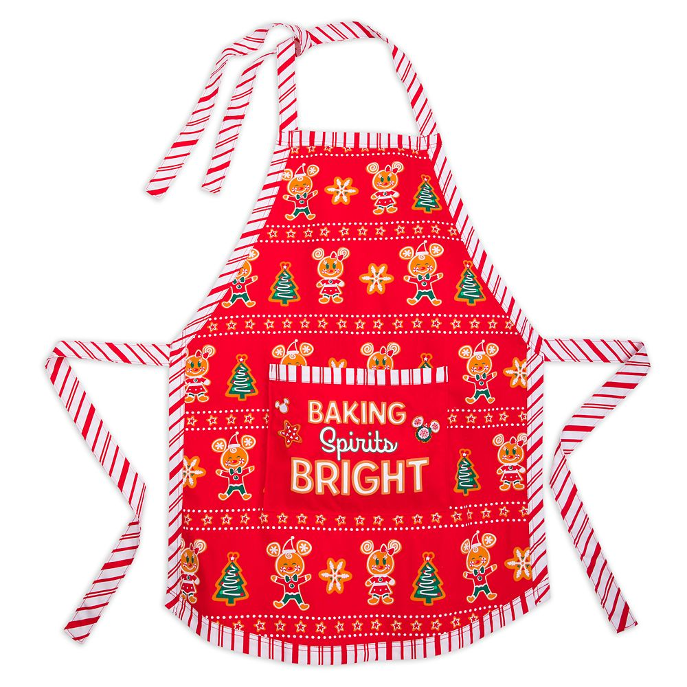 Disney Apron - Holiday Mickey Gingerbread Baking Spirits Bright