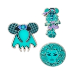 Disney Pin Set - Minnie Mouse Main Attraction - The Haunted Mansion