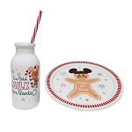 Disney Milk and Cookie Set - Holiday Mickey Gingerbread