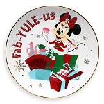 Disney Dessert Plate - Holiday Minnie Fab-Yule-Us