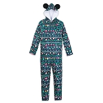Disney Bodysuit Pajama for Men - Mickey Mouse Holiday Icons