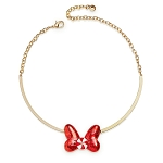 Disney Necklace by BaubleBar - Minnie Mouse - Holiday Bow