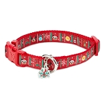 Disney Tails Dog Collar - Mickey and Minnie Mouse - Holiday