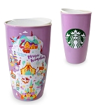 Disney Ceramic Travel Tumbler - Starbucks Park Map - Magic Kingdom