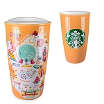 Disney Ceramic Travel Tumbler - Starbucks Park Map - Epcot