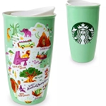 Disney Ceramic Travel Tumbler - Starbucks Park Map - Animal Kingdom