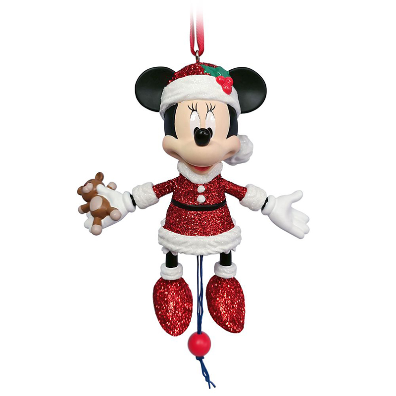 Disney Articulated Figural Ornament - Santa Minnie Mouse