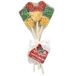 Disney Rice Crispy Treat Bouquet - Christmas Red and Green Dipped Mickey