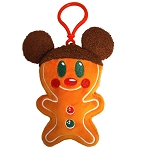 Disney Plush Keychain - Holiday Mickey Gingerbread