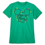 Disney Adult Shirt - Mickey Christmas Lights Keep It Merry Tee