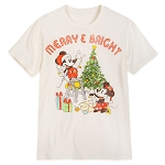 Disney Adult Tee - Mickey and Minnie Christmas Tree Merry and Bright