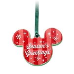 Disney Ornament - Mickey Mouse Icon - Season's Greetings - Merry and Bright