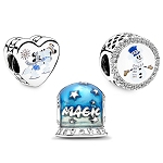 Disney Pandora Charm Set - Silver and Gold Holiday Collection - Mickey and Minnie Mouse