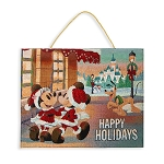 Disney Light-Up Tapestry - Mickey Mouse and Friends Holiday