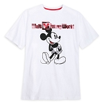 Disney Adult T Shirt - Black and White Plaid - Mickey Mouse