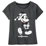 Disney Women's Shirt - Classic Holiday Plaid - Mickey Mouse
