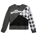 Disney Women's Pullover Top - Black and White Plaid - Walt Disney World