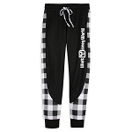 Disney Women's Jogger Pants - Black and White Plaid - Walt Disney World