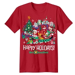 Disney Adult Shirt - Mickey Mouse and Friends - Happy Holidays