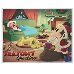 Disney Holiday Throw Blanket - Mickey Mouse and Friends