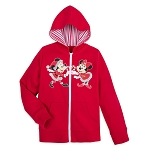 Disney Girls Hoodie - Walt Disney World Holiday Mickey and Minnie Mouse