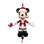 Disney Articulated Figural Ornament - Santa Mickey Mouse