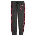 Disney Women's Jogger Pants - Red Plaid - Mickey Mouse