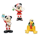 Disney Porcelain Figure Set - Santa Mickey Mouse and Friends