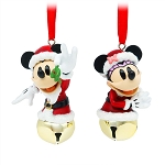 Disney Bell Ornament Set - Santa Mickey and Minnie Mouse