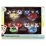 Disney Glass Droplet Ornament Set - Mickey Mouse Icon