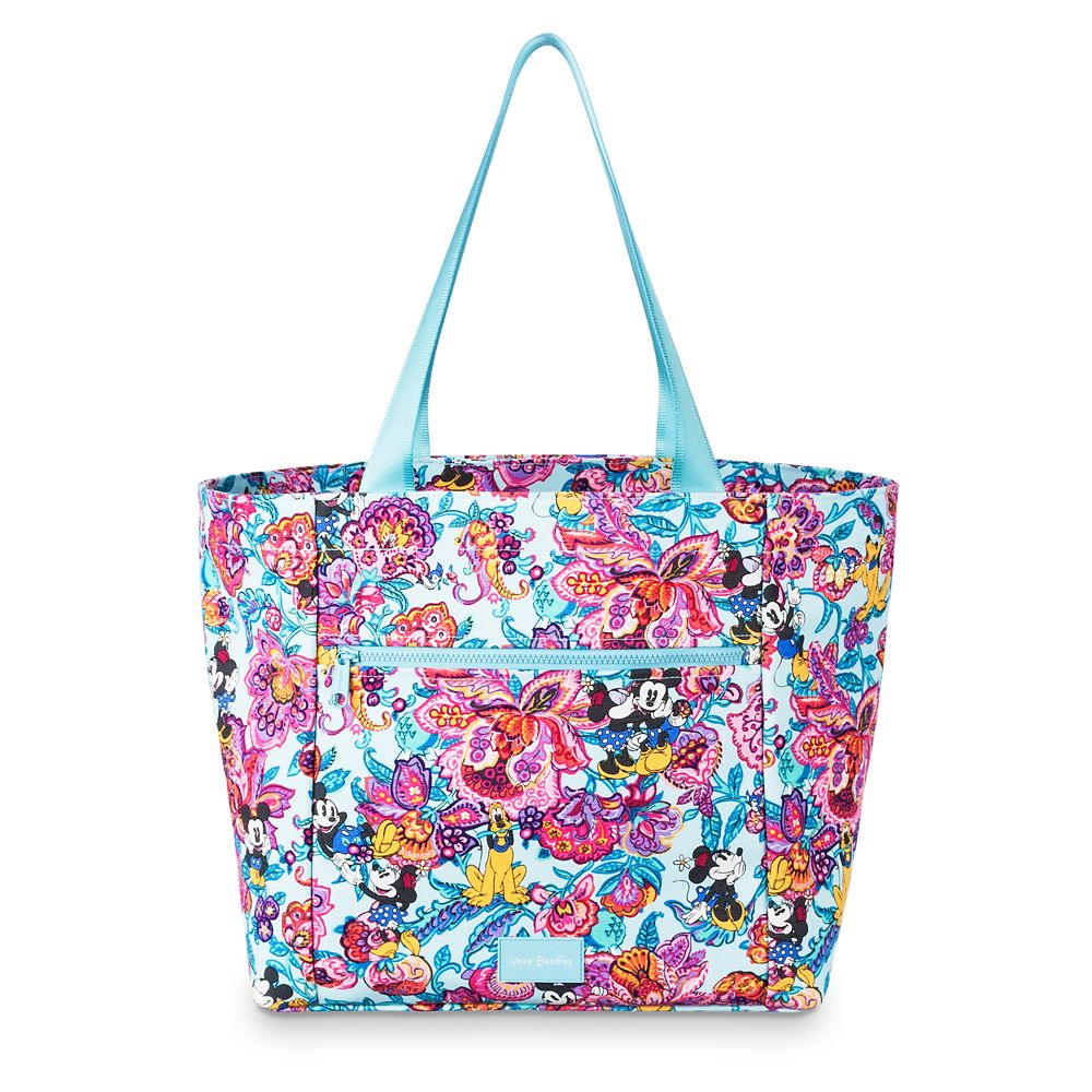 Disney Vera Bradley - Mickey's Colorful Garden Drawstring Tote