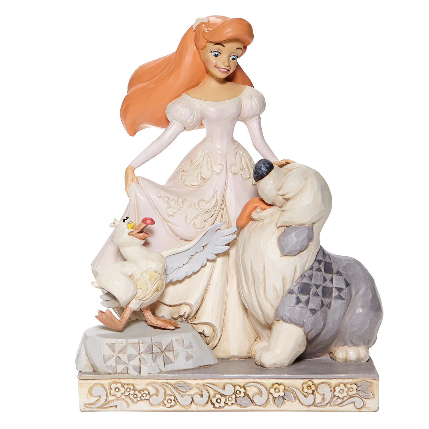 Disney Traditions by Jim Shore - White Woodland Ariel with Max