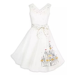 Disney Dress Shop Holiday Dress - Silver and Gold - Fantasyland Castle