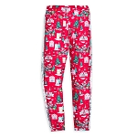 Disney Girls Leggings - Santa Mickey and Friends Sequin Stripe