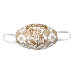 Universal Face Mask - Harry Potter Hogwarts Crest - Gold and White