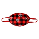 Universal Mask - Christmas Buffalo Plaid and Snowflakes