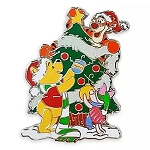 Disney Pin - Santa Winnie Decorating Christmas Tree
