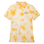 Disney Men's Polo Shirt - Slim Fit - Walt Disney World - Tie Dye - Yellow