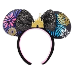 Disney Ear Headband - Minnie Main Attraction - Nighttime Castle and Fireworks Finale