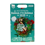 Disney Festival of the Holidays 2020 Pin - Chip and Dale on a Wreath