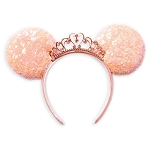 Disney Ear Headband - Princess w/ Sequined Bow - Coral