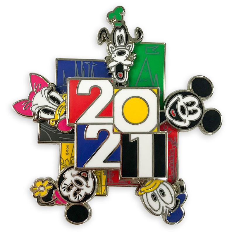 Disney Pin - Walt Disney World 2021Logo - Mickey Mouse and Friends - Spinner