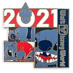 Disney Pin - Walt Disney World 2021 Logo - Stitch