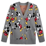 Disney Adult Intarsia Knit Cardigan Sweater - Mickey Mouse