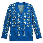 Disney Adult Intarsia Knit Cardigan Sweater - Donald Duck